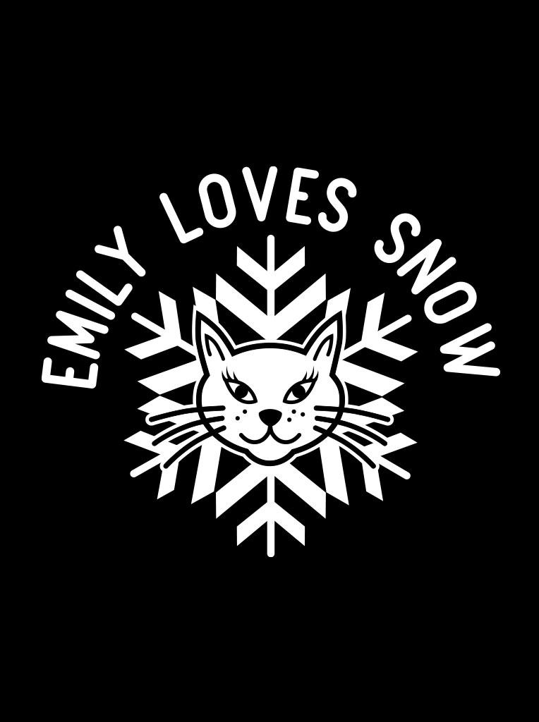 Emily loves snow logo